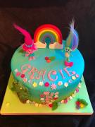 colourful character birthday cake