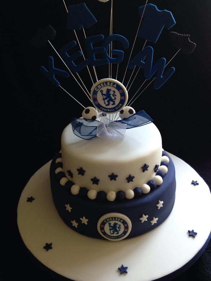 Excellent Chelsea Football Cake Bespoke Bakes Of Petworth Personalised Birthday Cards Veneteletsinfo