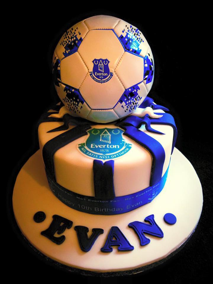 everton football cake Bespoke Bakes of Petworth